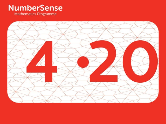 NumberSense Manipulating Numbers: Level 4, Task 20 (Gr.1, T.4, Wkbk 4)