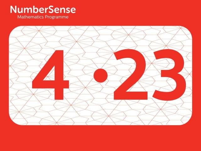 NumberSense Manipulating Numbers: Level 4, Task 23 (Gr.1, T.4, Wkbk 4)
