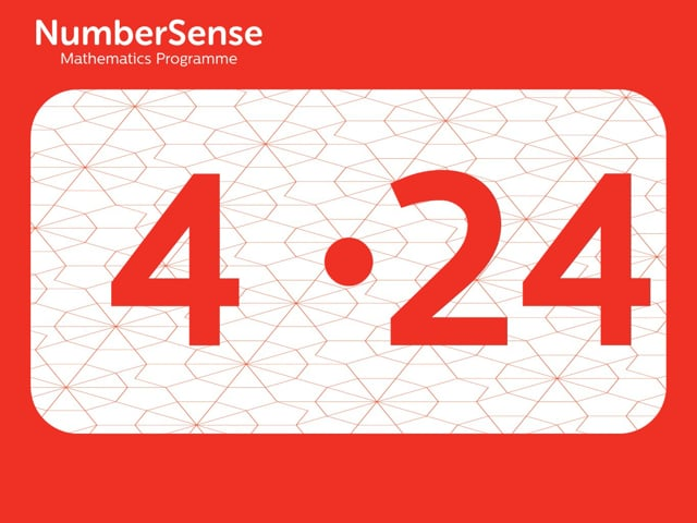NumberSense Manipulating Numbers: Level 4, Task 24 (Gr.1, T.4, Wkbk 4)