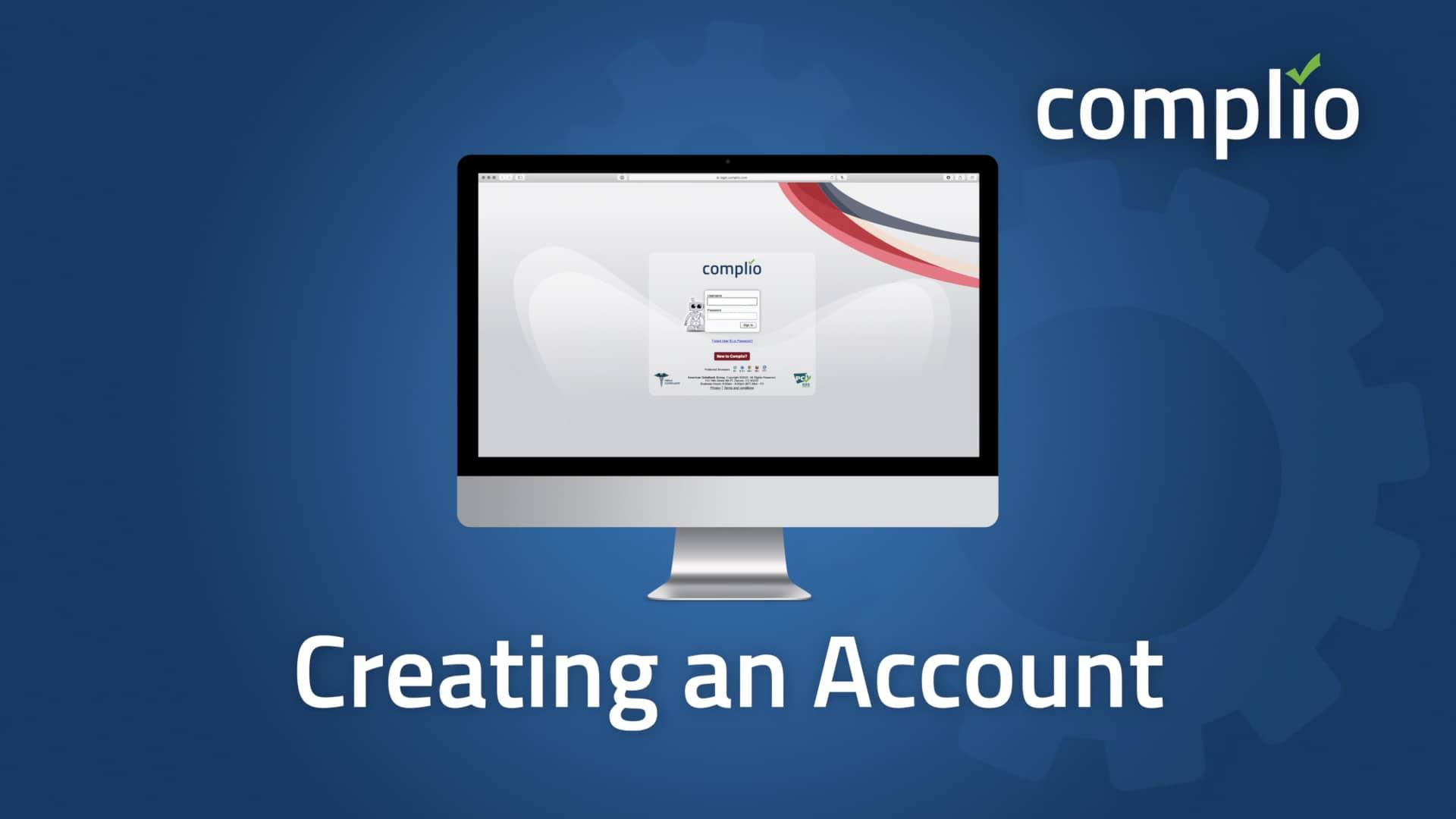Complio Creating an Account