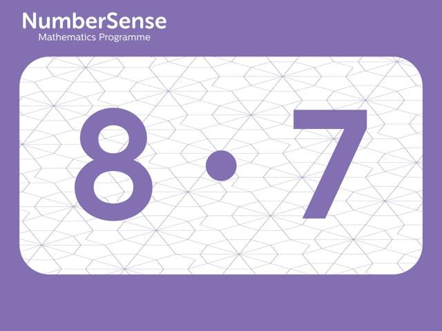 NumberSense Manipulating Numbers: Level 8, Task 7 (Gr.2, T.4, Wkbk 8)