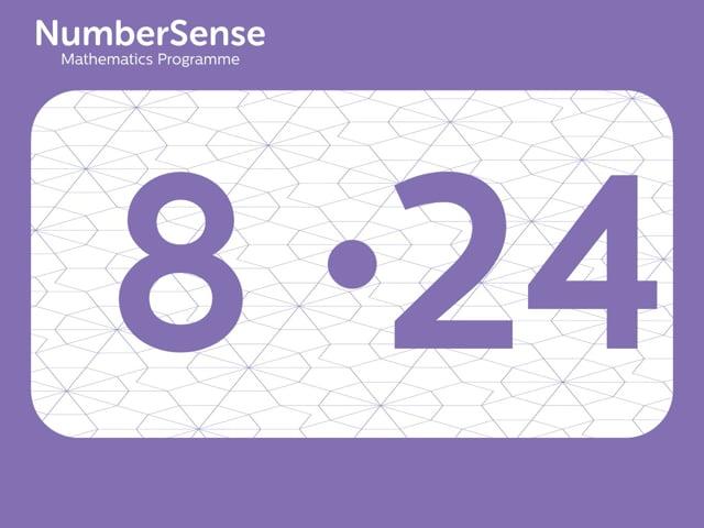 NumberSense Manipulating Numbers: Level 8, Task 24 (Gr.2, T.4, Wkbk 8)