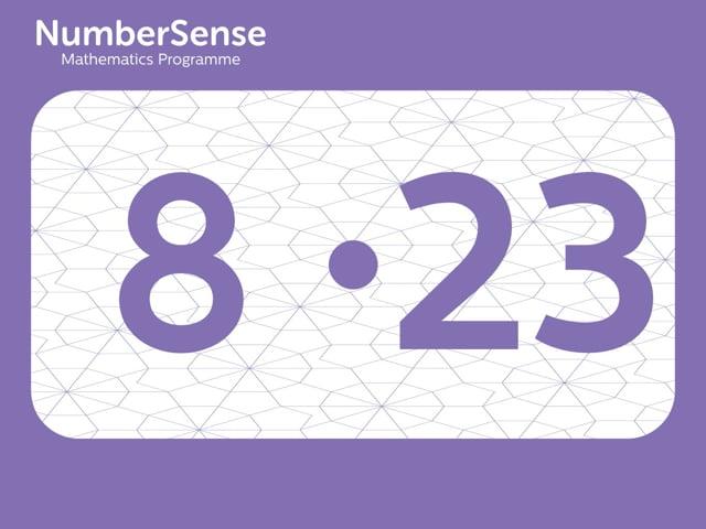 NumberSense Manipulating Numbers: Level 8, Task 23 (Gr.2, T.4, Wkbk 8)
