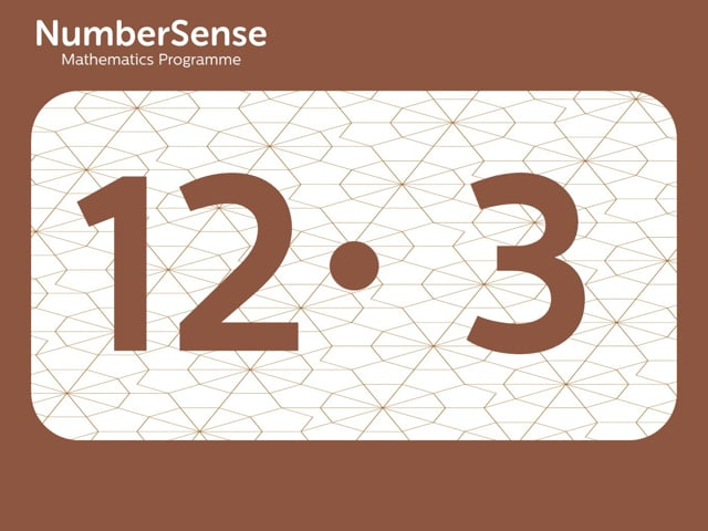 NumberSense Manipulating Numbers: Level 12, Task 3 (Gr.3, T.4, Wkbk 12)