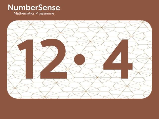 NumberSense Manipulating Numbers: Level 12, Task 4 (Gr.3, T.4, Wkbk 12)