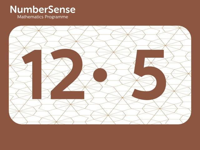 NumberSense Manipulating Numbers: Level 12, Task 5 (Gr.3, T.4, Wkbk 12)