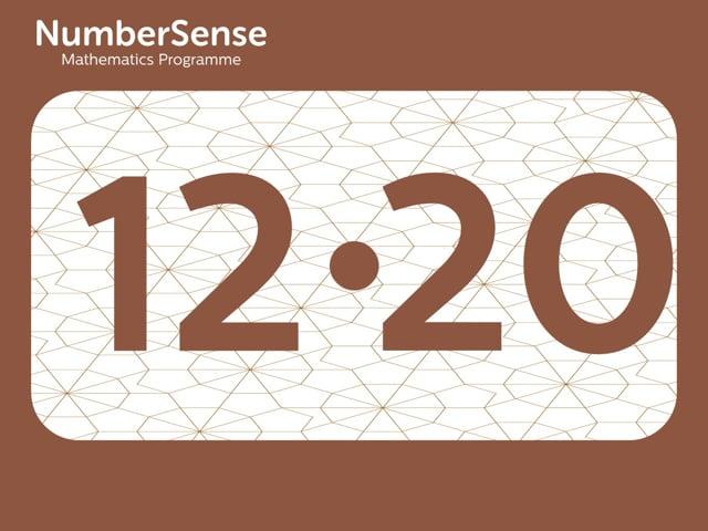 NumberSense Manipulating Numbers: Level 12, Task 20 (Gr.3, T.4, Wkbk 12)