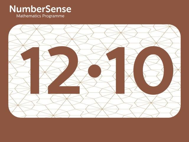 NumberSense Manipulating Numbers: Level 12, Task 10 (Gr.3, T.4, Wkbk 12)