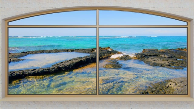 Window to Tropical Paradise. Part 3 - 4K HDR
