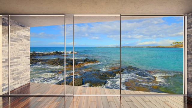 Window to Tropical Paradise. Part 2 - 4K HDR