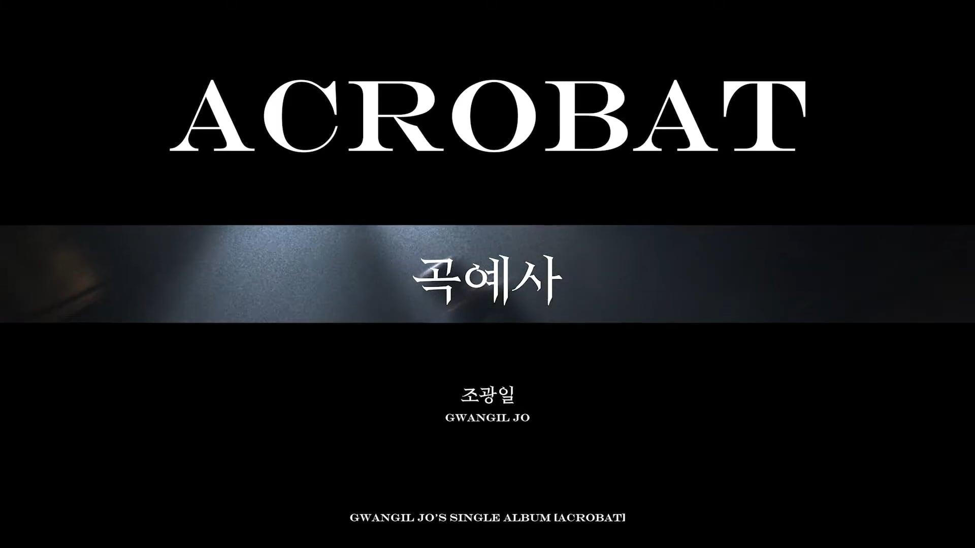[Special Clip] Gwangil Jo(조광일) - Acrobat(곡예사) (Live ver.)