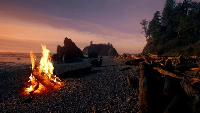 Campfire at Ruby Beach