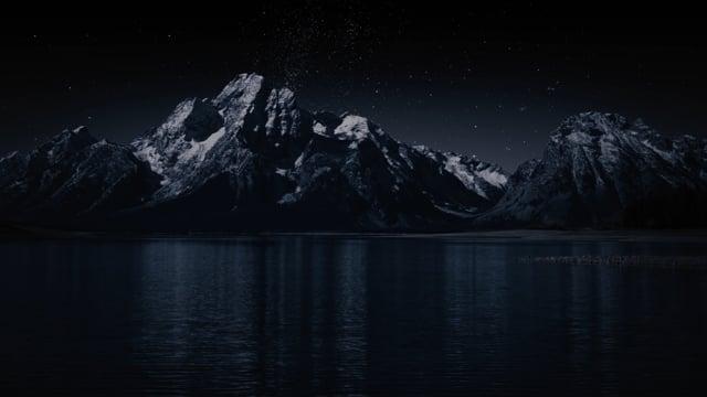 Grand Teton and Milky Way