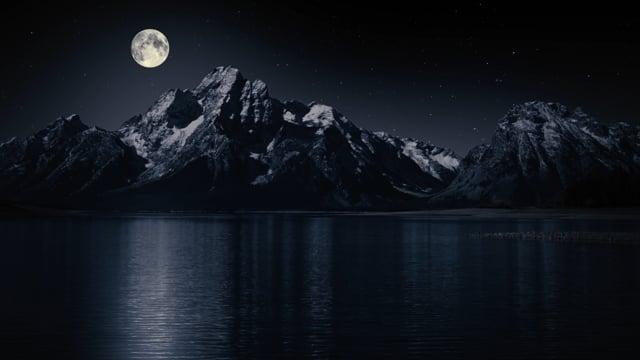 Grand Teton Mountains at Night