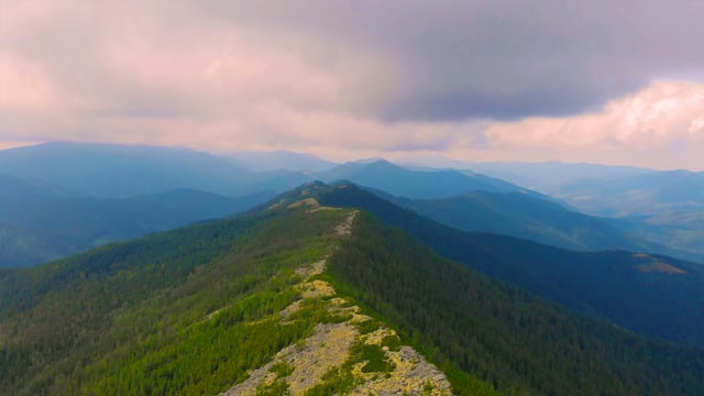 Carpathian Mountains - View from Above