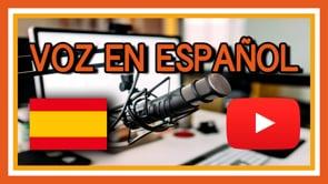 Grabación de voz en off, acento español de España