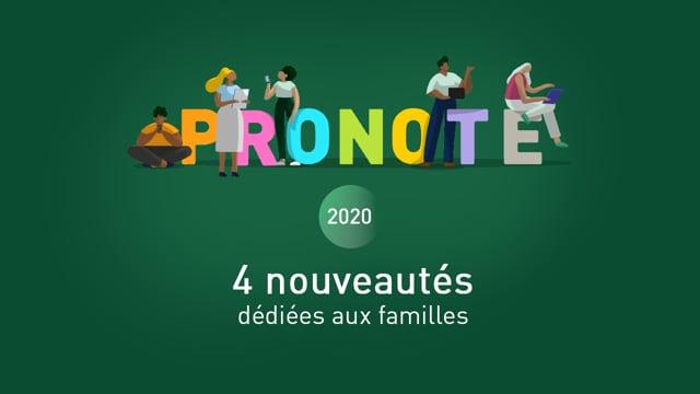 PRONOTE 2020 : 4 nouveautés dédiées aux familles