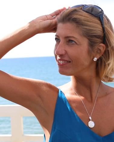 Vídeo: Pendientes Madre perla blanca Forma Redonda Plata de Ley 925