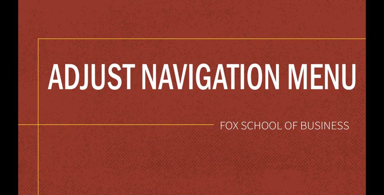 61826Adjust Navigation Menu
