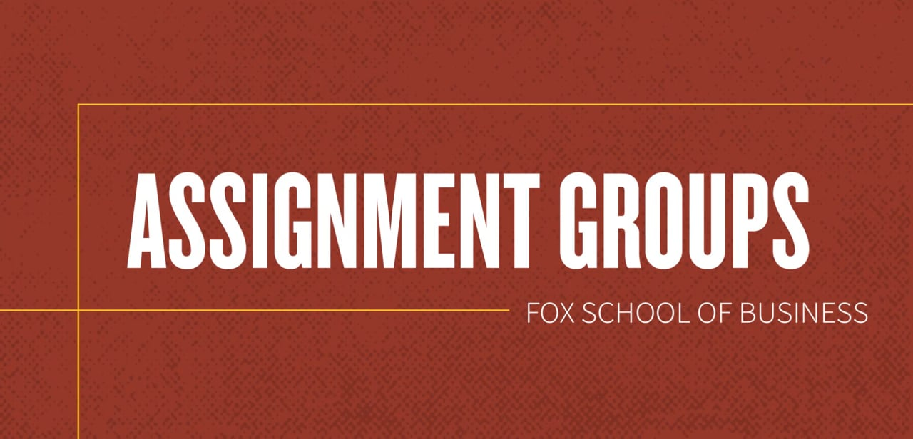 61827Assignment Groups