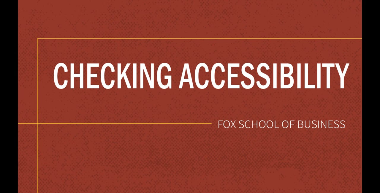 61829Checking Accessibility
