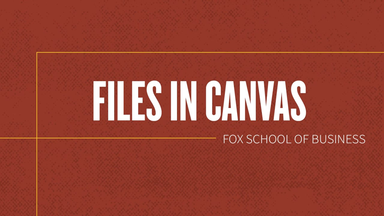 61834Files in Canvas