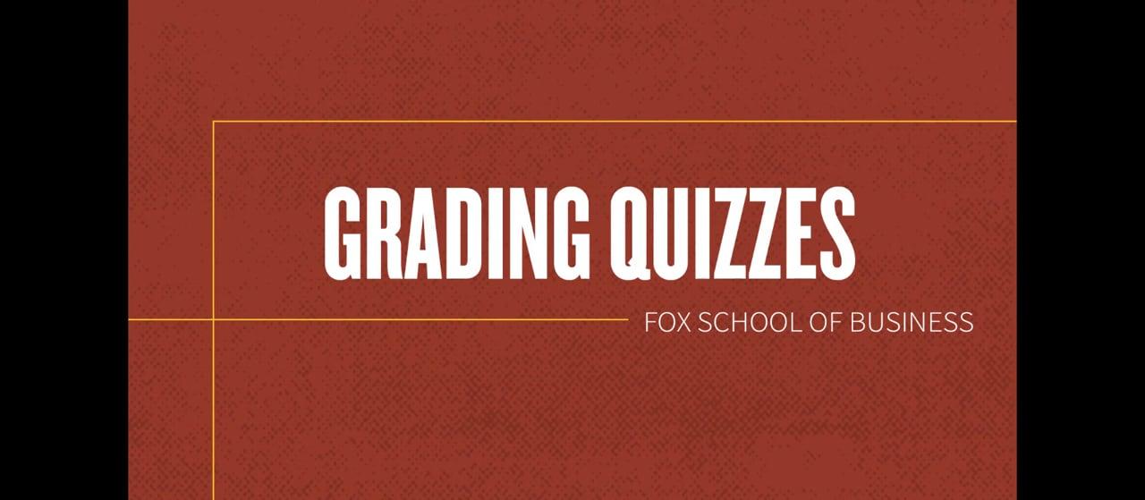 61835Grading Quizzes