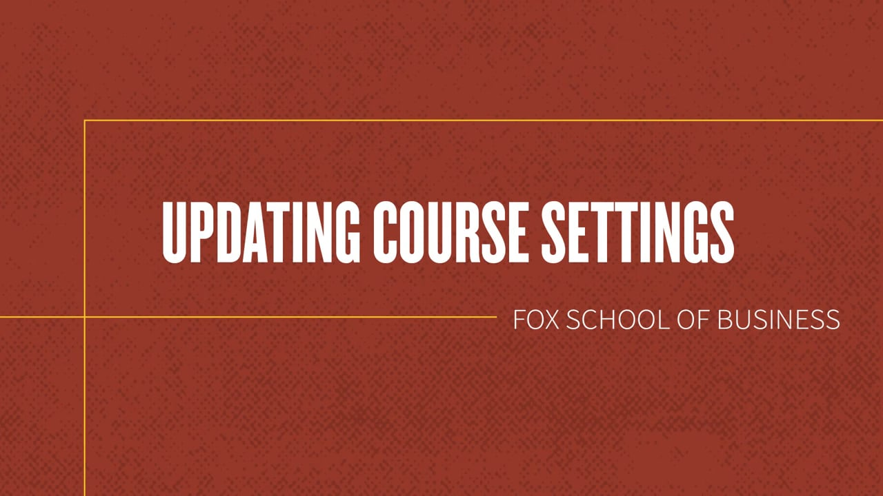 61843Updating course settings