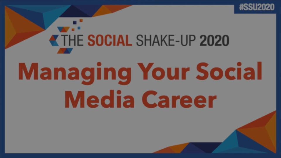 Managing Your Social Media Career