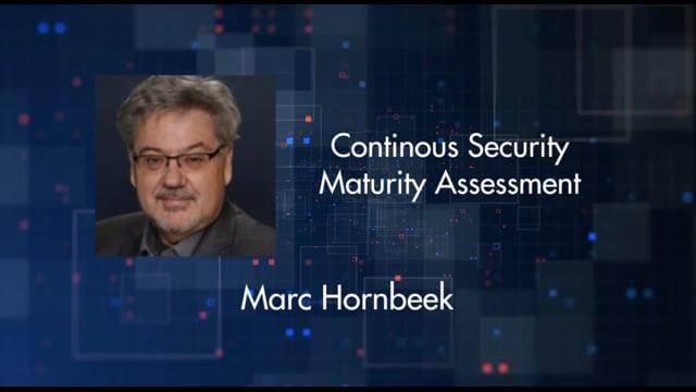 Marc Hornbeek - Continous Security Maturity Assessment