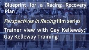 Thumbnail of Trainer view with Gay Kelleway; Gay Kelleway Racing