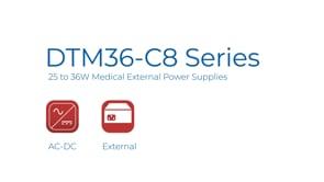 DTM36-C8 25 to 36W Medical External Power Supplies Video