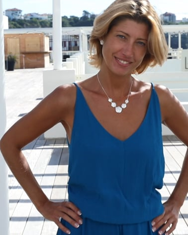 Video: 925 Sterlingsilber Perlmutt Weiss Blumen Halskette