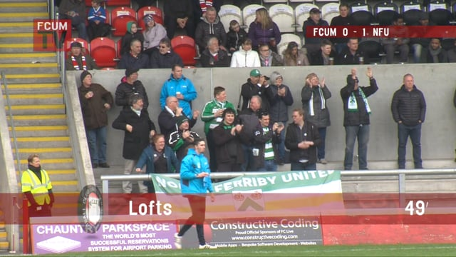 FCUM vs North Ferriby United - Goals - 26-4-18