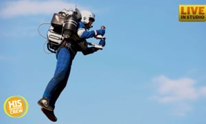 Did you hear about the man flying with a jet pack around LAX?