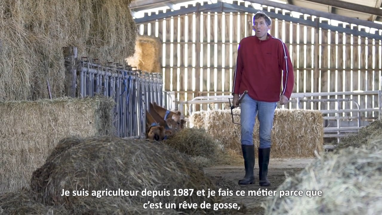 [Contenu partenaire] Parcours d'agriculteurs : pour Christophe Hervy, producteur de lait bio,