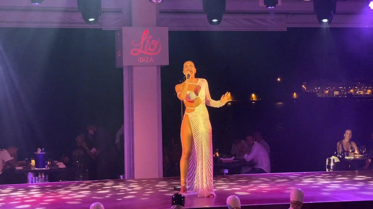Aida Blanco Actuación en directo.