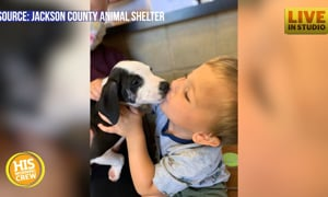 This boy has a new furry friend, with the same birth defect as him!