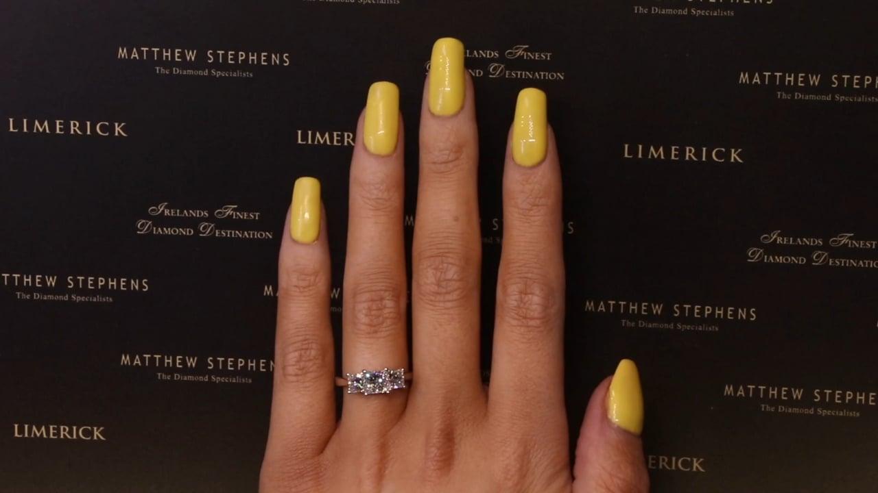 73545 - Princess Three Stone Ring, T2.09ct, Set in 18ct White Gold