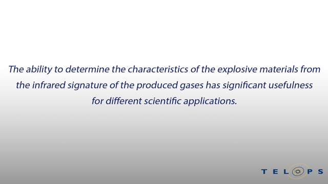 Explosion gaseous by-products and their evolution in time