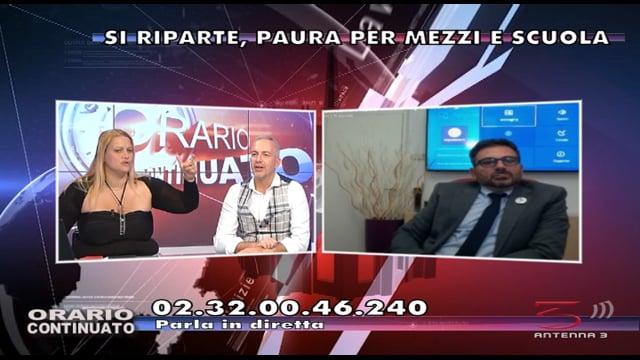 Antenna 3 intervista il Direttore della Scuola Paritaria S.FREUD di Milano