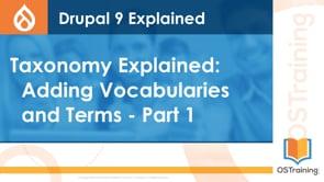 Adding Vocabularies & Terms Part 1
