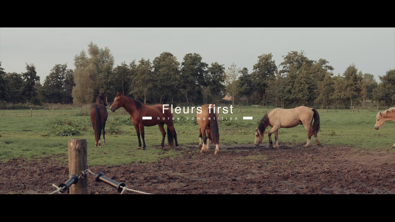 Fleurs first horse competition