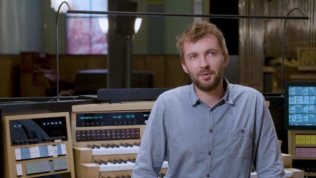 Boris Bezemer in het Orgelpark