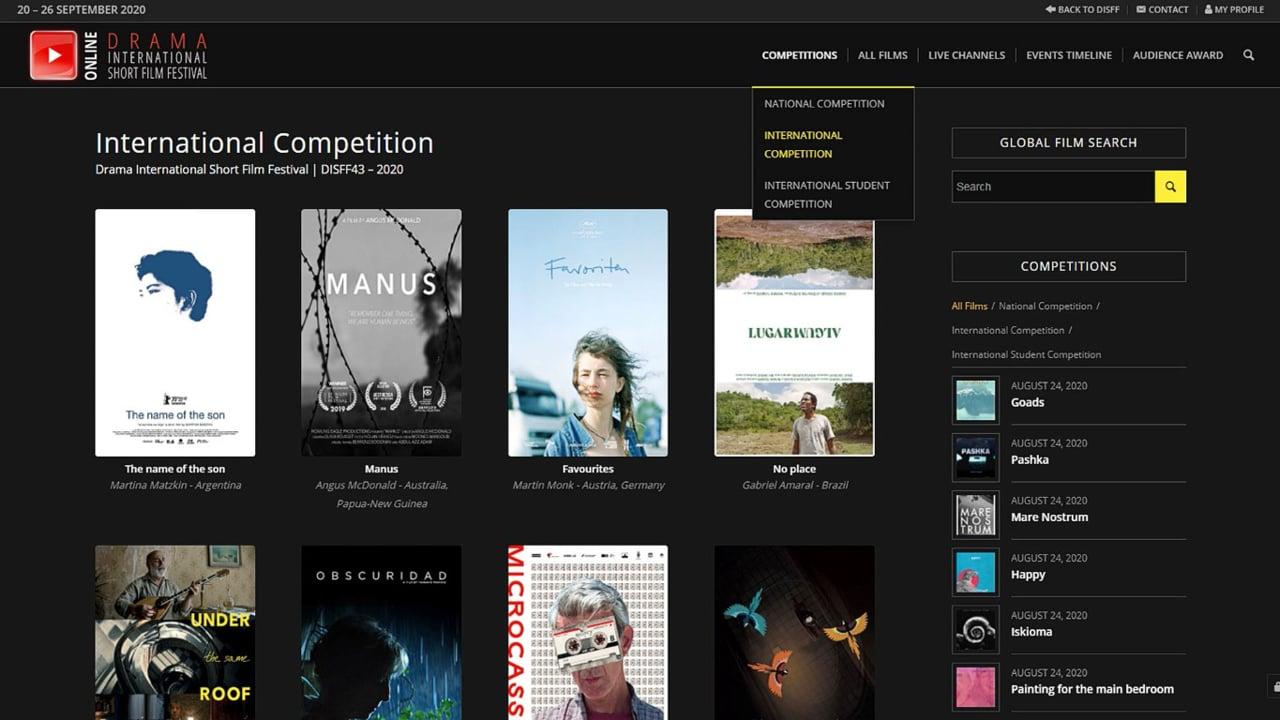 DISFF43 - Online Platform Presentation - Watch Short Films Online!