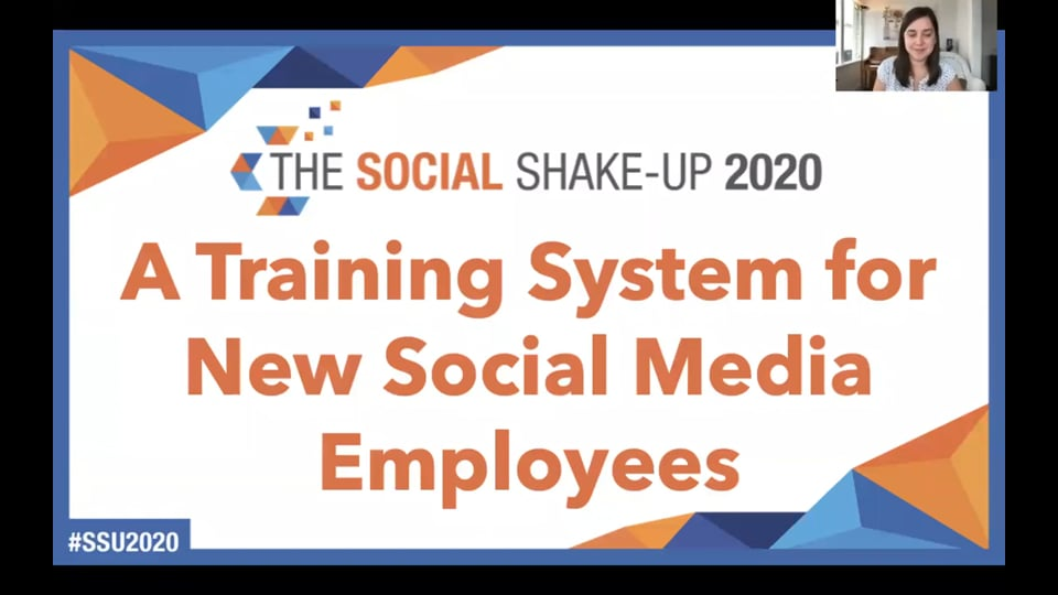 A Training System for New Social Media Employees