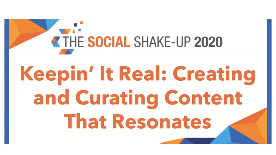 Keepin' It Real: Curating & Creating Content that Resonates With Your Audience