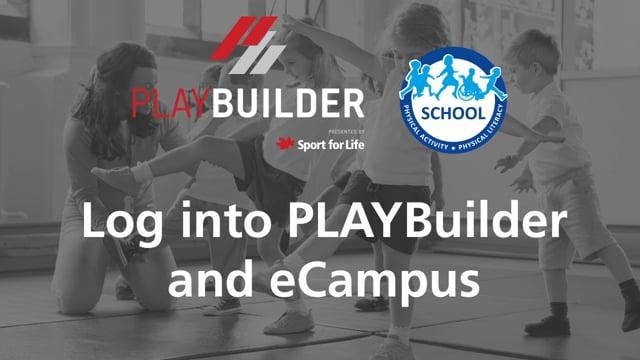 PLAYBuilder | Log into PLAYBuilder and eCampus