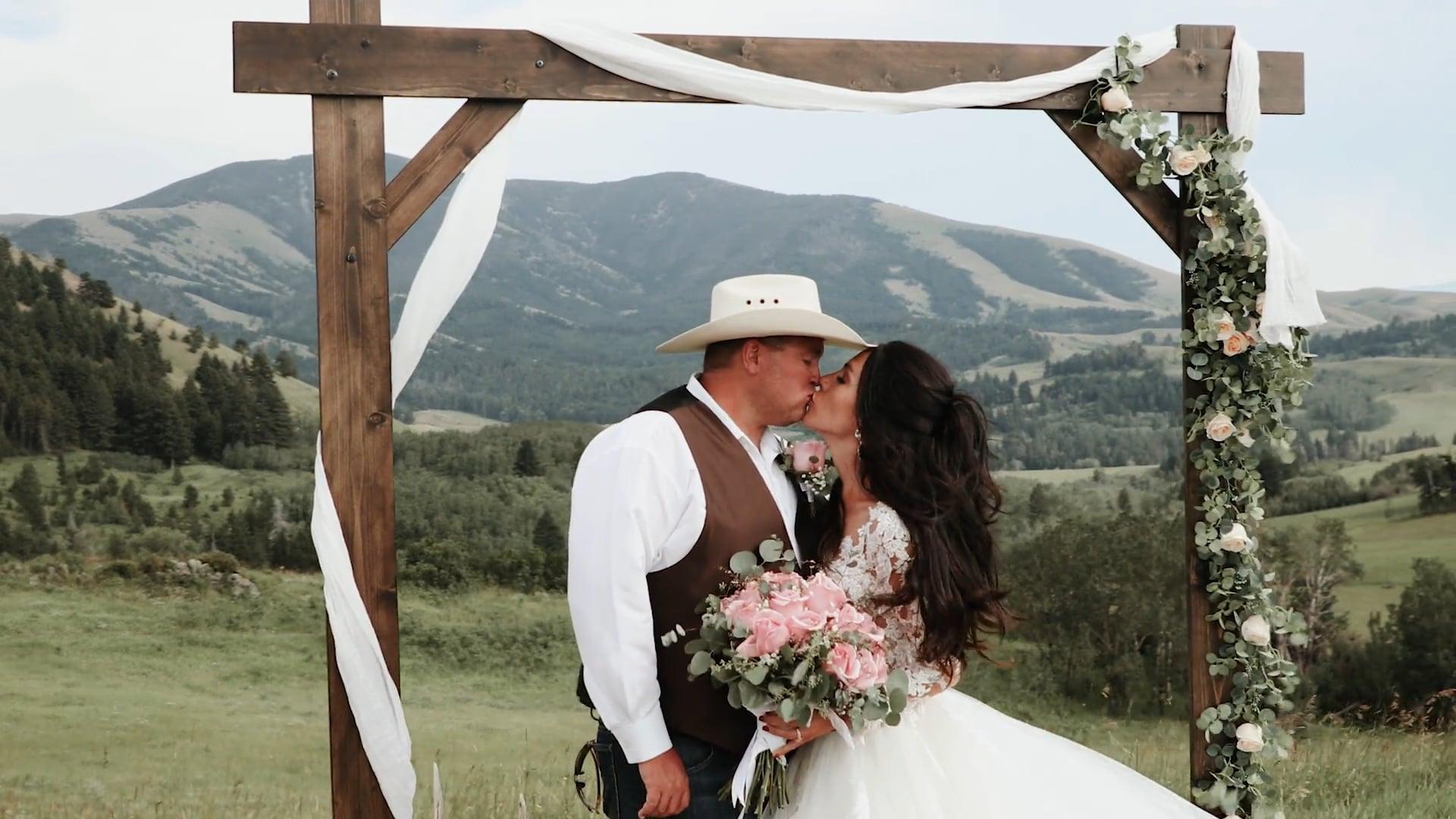 Matt & Katie Cunningham Wedding Video / Belt, Montana