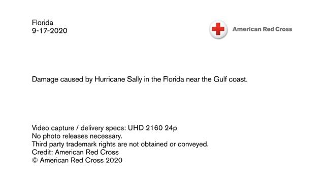 Disaster B-roll - Hurricane Sally - Damage in the Florida Gulf coast